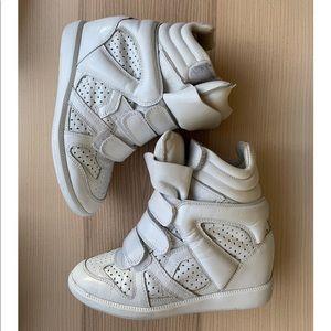 Isabel Marant White Wedge Sneakers